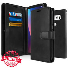For LG V50 V40 V30 V20 V35 Case Dual Flip leather Shockproof wallet Case Cover