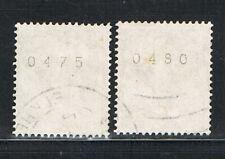 Letterset 2* 914AII R, 030 mit Nr. 0475 + 0480 gestempelt