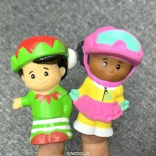 2X Fisher Price Little People CHRISTMAS children Figures heroes xmas gift