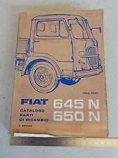 CATALOGO PARTI DI RICAMBIO ORIGINALE 1961 CAMION FIAT 645 N 650 N
