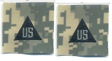 "US ARMY ACU UNIFORM INFIDEL OPERATOR burdock-hook CHEST INSIGNIA 2"" TAB: US X 2"