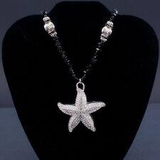 ISABELLA ADAMS black and silver starfish necklace