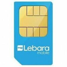 PAY AS YOU GO LEBARA MOBILE  TRIO SIM CARD - CHEAP INTERNATIONAL CALL- 1P