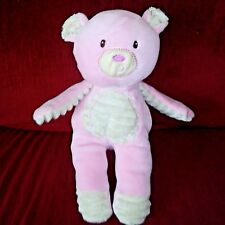 Mary Meyer Baby Pink Bear Smooth Plush Tan Ribbed Chest Inner Arms/Ears Feet