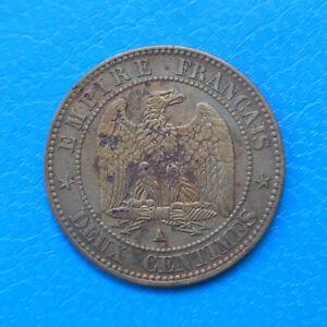 Napoléon III , 2 centimes 1861 A Paris , buste définitif
