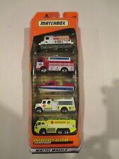 Emergency Rescue 5 Pack Gift Set Matchbox Mattel Wheels 36813 w Free ship!