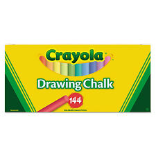 Crayola Colored Drawing Chalk Six Each of 24 Assorted Colors 144 Sticks/Set