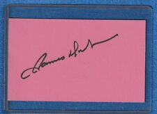 "JAMES DOOHAN AUTOGRAPH INDEX CARD 5X3 STAR TREK'S ""SCOTTY"""