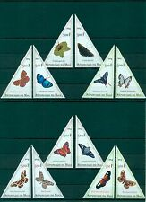 Mali Butterflies Schmetterlinge Insects Papillons 12 MNH triangle stamps set