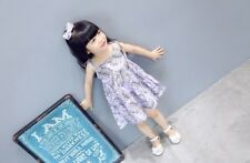 NEW Kid Girl Spring Summer Holiday Dress/Dress Lilac Braces Skirt Set Size 8 Z3F