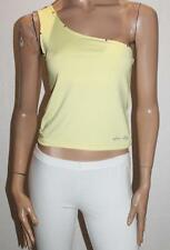 AZTEC ROSE Designer Lemon One Shoulder Crop Top Size M BNWT #TB42