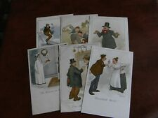 ORIGINAL SET OF SIX ARTHUR MORELAND COMIC POSTCARDS - SERIES 235 - BOOK TITLES.