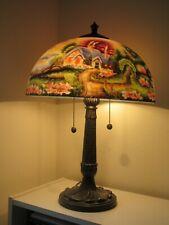 Thomas Kinkade New Day Dawning Reverse Painting Table Lamp