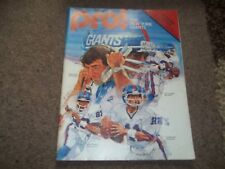 VINTAGE NY Giganti V Washington Redskins NFL 13TH DICEMBRE 1980