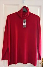 Supersoft Red Polo Neck Jumper