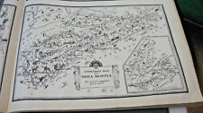 1933 Animated Map Of Nova Scotia  By Arthur E. Elias From The Commercial Atlas