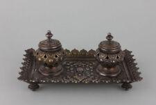 Schreibtischgarnitur Schreibzeug Tintenzeug, Gründerzeit, um 1880