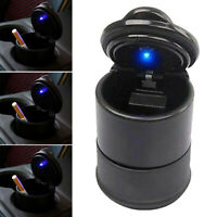 Portable Car Auto Ashtray Blue LED Light Smokeless Ashtray Cigarette Holder New