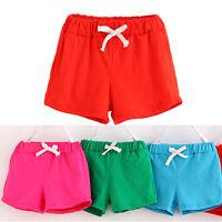 Summer Children Kid Baby Boys Girls Cotton Casual Shorts Sport Pants Beach Pants