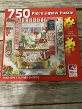 Great American Puzzle Factory Blossom's Flower Shoppe 750 Piece Jigsaw Complete