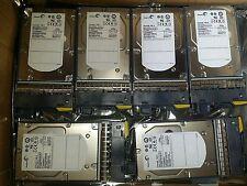 """Lot of 6 NetApp ST3450856FC 108-00205 450GB 3.5"""" 15K FC 9D004-038 NA00  W/ Tray#"""