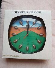 """Sports Quartz Wall Clock 'American Football'.New in Box. 11"""" Diameter."""
