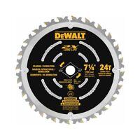 "DEWALT DWA31724D 7-1/4"" 24T 2X Demolition Saw Blade"