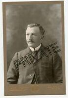 Cabinet Photo - Denver, Colorado - Handsome Man, Moustache, Rothberger Studio