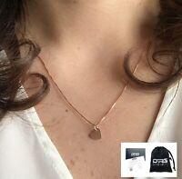 Collana Catenina Donna Argento 925 Oro Rosa Cuore Charm Ciondolo