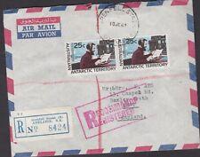 1967 Australia 50c Total 25c AAT Radio Operator REGISTERED Airmail Cover to GB
