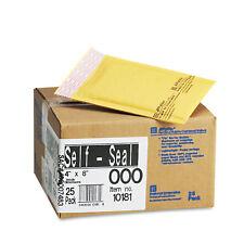 Sealed Air Jiffylite Self-Seal Mailer Side Seam #000 4 x 8 Golden Brown 25