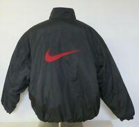 Mens Vintage White Tag Nike Reversible Black Red Puffer Jacket Size XXL 2XL Big