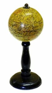 1830 - Important French Globe, Anonymous Miniature or pocket globe 6cm