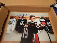 TREVOR ZEGRAS signed (ANAHEIM DUCKS) 2019 NHL DRAFT autographed Photo 8x10  #2