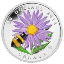 2012 Canada Venetian Glass Bumble Bee $20 加拿大 2012年20元彩色精制纪念币 黄心菊和蜂鸟 35mm