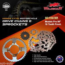 HONDA CT110 CT 110 POSTIE BIKE MOTORCYCLE CHAIN SPROCKET KIT 16T PRE 99 -GO FAST