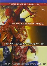 Spider-Man Spider-Man 2 Spider-Man 3 (DVD, 2010, 3-Disc Set) NEW
