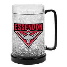 Essendon Bombers AFL Gel Ezy Freeze Beer Stein Frosty Mug Cup Man Cave Bar Gift