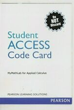 Student Access Code Card MyMathLab for Applied Calculus