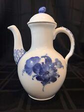 Royal Copenhagen Denmark Coffee Pot Blue Flowers 8189