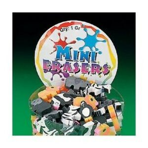 Lot of 144 Mini Zoo Animal Erasers Party Favors Assort