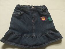 PRE-OWNED  GIRLS HARTSTRINGS  DENIM SKIRT WITH SHORTS UNDERNEATH  SZ-7