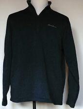 Eddie Bauer Midnight Heather Blue Radiator Sweater Fleece Pullover Jacket XL