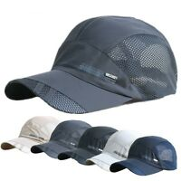 Women Sport Baseball Mesh Hat Men Running Visor Quick-drying Cap Summer Outdoor