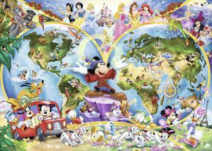 1000 pcs jigsaw puzzle: Disney's World Map (Original, Disney, Maps)