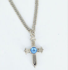 Cosplay Necklace Anime Fairy Tail Gray Fullbuster Cross Pendant Chain Necklace
