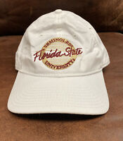 The Game Adjustable Florida State Seminoles Cap Hat Strapback NCAA White