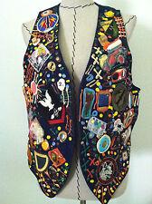 Vintage 80's vest pop art unique Nu Wave multi color rare