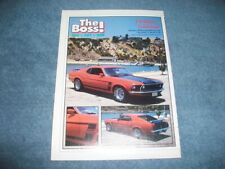 "1969 Boss 302 Mustang Fastback Vintage Article ""Problem...Solution!"" SportsRoof"