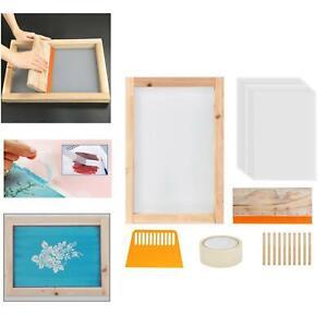 24x Screen Printing Starter Kit Wood Silk Screen Printing Frame with Mesh & Tape